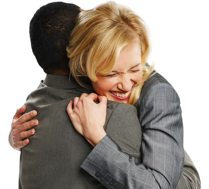 Payroll and HR Directors hug it out
